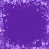 紫色墨似的飞溅框架边界 免版税库存图片