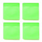 绿色备忘录棍子 免版税图库摄影