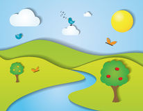 绿色夏天风景例证 库存照片