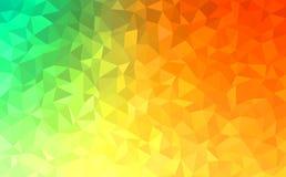 绿色多角形抽象的背景-,黄色,橙色 库存图片