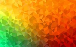 绿色多角形抽象的背景-,黄色,橙色 免版税图库摄影