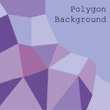 紫色多角形摘要背景传染媒介 免版税图库摄影