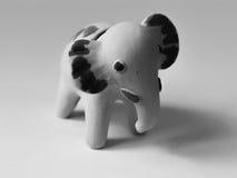 黄色大象玩具 库存图片