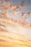 黄色天空,当太阳升起  背景或纹理为 免版税库存照片