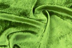 绿色天鹅绒特写镜头 纹理和背景的织品宏指令 库存照片