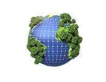 绿色太阳能的概念 库存例证