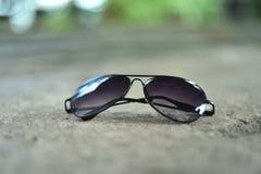 黑色太阳镜 库存照片