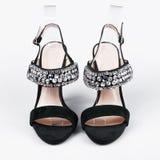 黑色女性鞋子 库存照片
