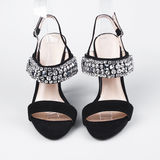 黑色女性鞋子 免版税库存图片