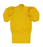 黄色女衬衫 免版税图库摄影