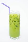 绿色奶茶,刷新的口味甜点 库存图片