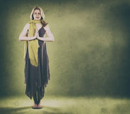 绿色妇女 免版税图库摄影