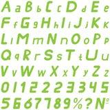 绿色字体软的倾斜的样式手工为商务使用 图库摄影