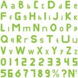 绿色字体软的样式手工为商务使用 免版税库存图片