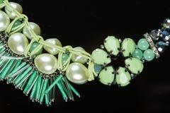 绿色宝石项链 免版税图库摄影