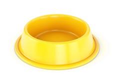 黄色宠物碗 库存照片