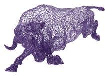 紫色导线被构筑的公牛 免版税库存照片