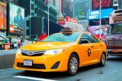 黄色小室在纽约时常摆正 免版税图库摄影