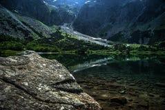 绿色小湖 库存照片