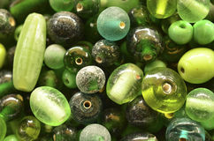 绿色小珠 免版税库存图片