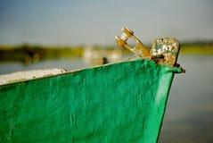绿色小船 免版税库存图片