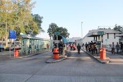 绿色小巴驻地在香港 库存图片