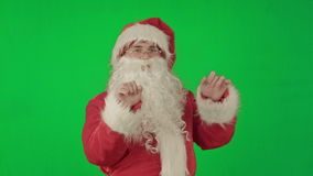 绿色屏幕镀铬物的愉快的跳舞的圣诞老人 股票视频