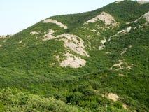 绿色山和小山 图库摄影