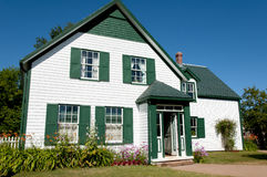 绿色山墙家的爱德华王子岛-加拿大 免版税图库摄影