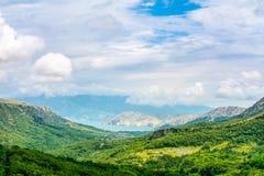绿色山谷在克罗地亚 免版税库存照片
