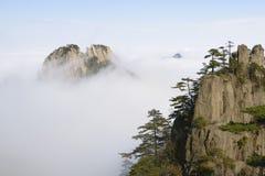 黄色山-黄山,中国 免版税库存图片