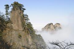 黄色山-黄山,中国 免版税库存照片