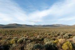 绿色山-从萨瑟兰观测所盐的看法 库存图片