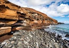 黄色山(蒙大拿Amarilla)在Costa del Silencio Teneri 免版税库存图片