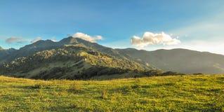 绿色山 免版税库存图片