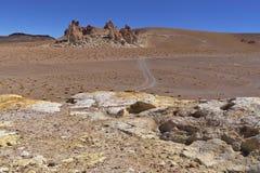 黄色岩层 库存照片