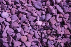 紫色岩石 库存照片