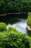 绿色峡谷湖 图库摄影