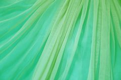 绿色布料被弄皱的背景 库存照片