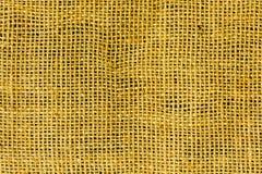 黄色帆布纹理 免版税库存图片