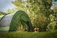 绿色帐篷 库存照片