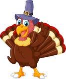 戴紫色帽子和给赞许的土耳其吉祥人 库存图片