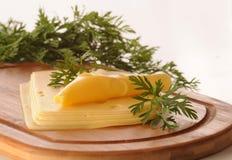 黄色干酪 免版税库存图片