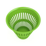 绿色废物篮 库存图片
