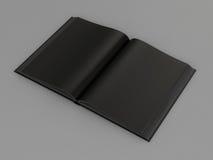 黑色开放书 免版税库存照片
