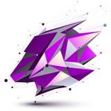 紫色当代技术不对称的对象 图库摄影