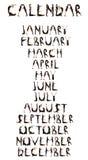 黑色形成与嘴的加工好的人民日历 免版税库存图片