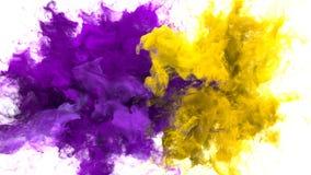 色彩生成-多个五颜六色的烟爆炸可变的微粒阿尔法铜铍 向量例证