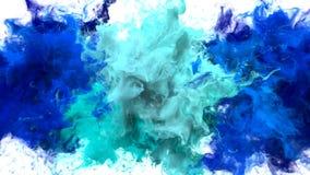 色彩生成-多个五颜六色的烟爆炸可变的微粒阿尔法铜铍 皇族释放例证