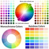 色彩设计,温暖和冷的颜色 皇族释放例证